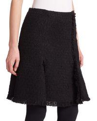 Akris Punto - Black Tweed Flared Skirt - Lyst