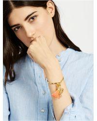 BaubleBar Metallic Notch Charm Bracelet