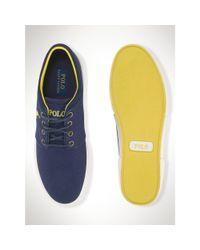 Polo Ralph Lauren - Blue Twill Faxon Low Sneaker for Men - Lyst