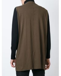 DRKSHDW by Rick Owens - Brown Sleeveless T-shirt for Men - Lyst