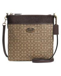 COACH Natural Signature Swingpack Leather Bag