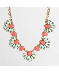 J.Crew | Metallic Factory Tropical Fan Necklace | Lyst