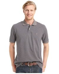 Izod | Gray Big And Tall Short Sleeve Striped Polo for Men | Lyst