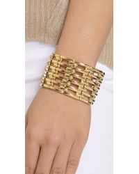 Kenneth Jay Lane | Metallic Open Link Bracelet - Gold | Lyst