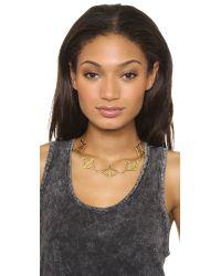 Pamela Love - Metallic Multi Balance Collar Necklace Gold - Lyst