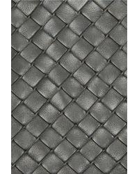 Bottega Veneta Gray Intrecciato Leather Gloves