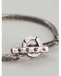 M. Cohen | Metallic Stacked Carved Oxidized Bracelet for Men | Lyst