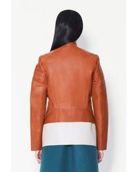 3.1 Phillip Lim - Brown Motorcycle Peplum Jacket - Lyst