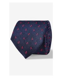 Express | Blue Paisley Micro Dot Narrow Silk Tie - Verde for Men | Lyst
