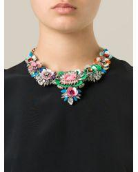 Shourouk Multicolor 'apolonia Flower' Necklace