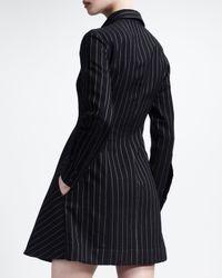 Stella McCartney Longsleeve Chalk stripe Dress Black cream