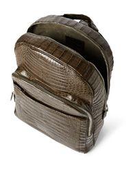 Santiago Gonzalez Brown Crocodile Backpack for men