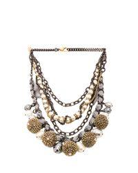 Erickson Beamon Metallic Weeping Angels Necklace