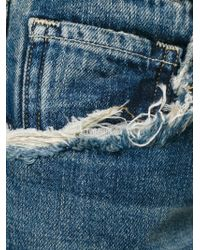 Citizens of Humanity - Blue Cropped Distressed Jeans - Lyst