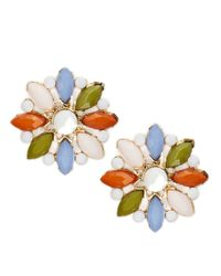 R.j. Graziano | Multicolor Floral Button Stud Earrings | Lyst