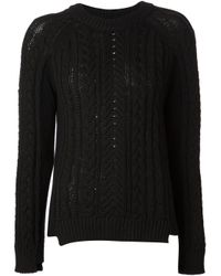 Rag & Bone Black Nala Boyfriend Pullover Sweater