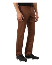 RVCA - Brown The Week-end Pant for Men - Lyst