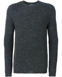 Laneus - Gray Crew Neck Sweater for Men - Lyst