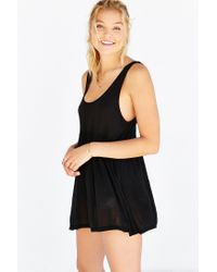 Truly Madly Deeply Black Babydoll Tank Top