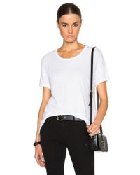 James Perse White Drop Shoulder Tee