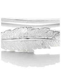Leivan Kash | Metallic Silver Feather Hand Cuff | Lyst