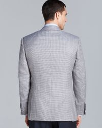 Canali Gray Siena Twotone Houndstooth Sport Coat Regular Fit for men