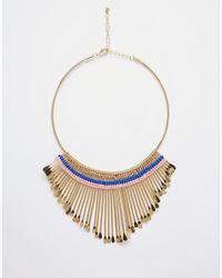 Monki | Multicolor Emily Graduated Drop Torque Necklace | Lyst