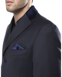 Jules B - Blue Wool Overcoat for Men - Lyst