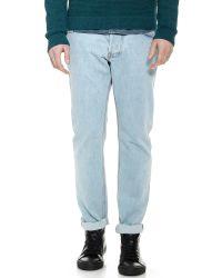Patrik Ervell Blue Selvedge Jeans for men