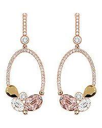 Swarovski Multicolor Branch Pierced Earrings