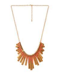 Forever 21 | Metallic Art Deco Fan Bib Necklace | Lyst