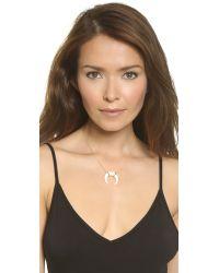 Jacquie Aiche - Metallic Bone Necklace - Bone/gold - Lyst
