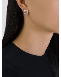 Ferragamo | Metallic Gancio Earrings | Lyst