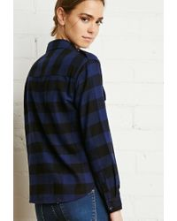 Forever 21 | Blue Buffalo Plaid Flannel Shirt | Lyst