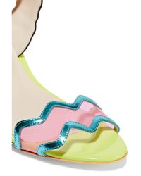 Sophia Webster Multicolor Patti Leather And Pvc Sandals
