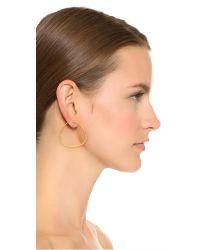 Sam Edelman - Metallic Organic Hoop Earrings - Gold - Lyst