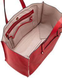 Valentino Red Rockstud Shopping Tote Bag