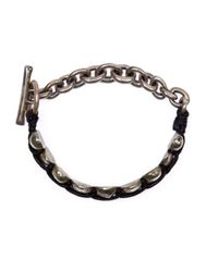 Tobias Wistisen | Metallic Stone Bead Bracelet for Men | Lyst