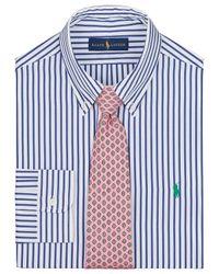 Pink Pony Blue Polo Stripe Poplin Shirt for men