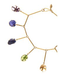 Pippa Small - Blue Multi-stone & Yellow-gold Bracelet - Lyst