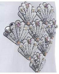 Markus Lupfer White Embellished Shell Heart Bella T-shirt