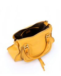 Chloé - Yellow Sunray Calfskin Large 'Marcie' Tote Bag - Lyst