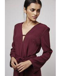 TOPSHOP - Purple T-bar Tunic Dress - Lyst