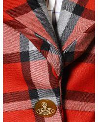 Vivienne Westwood Red Plaid Cool Wool Tartan Jacket for men