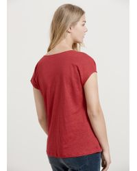 Violeta by Mango - Red Linen T-shirt - Lyst
