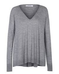 Dorothee Schumacher - Gray Own Decision Pullover V-neck 1/1 - Lyst
