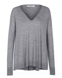 Dorothee Schumacher | Gray Own Decision Pullover V-neck 1/1 | Lyst