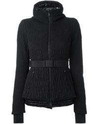Moncler Grenoble - Black Belted Quilted Jacket - Lyst