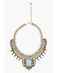 DANNIJO Blue Stone Crystal Embellished Eva Necklace