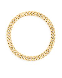 Adriana Orsini | Metallic Hammered Link Collar Necklace | Lyst